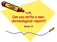 Writing non chronological reports ksr